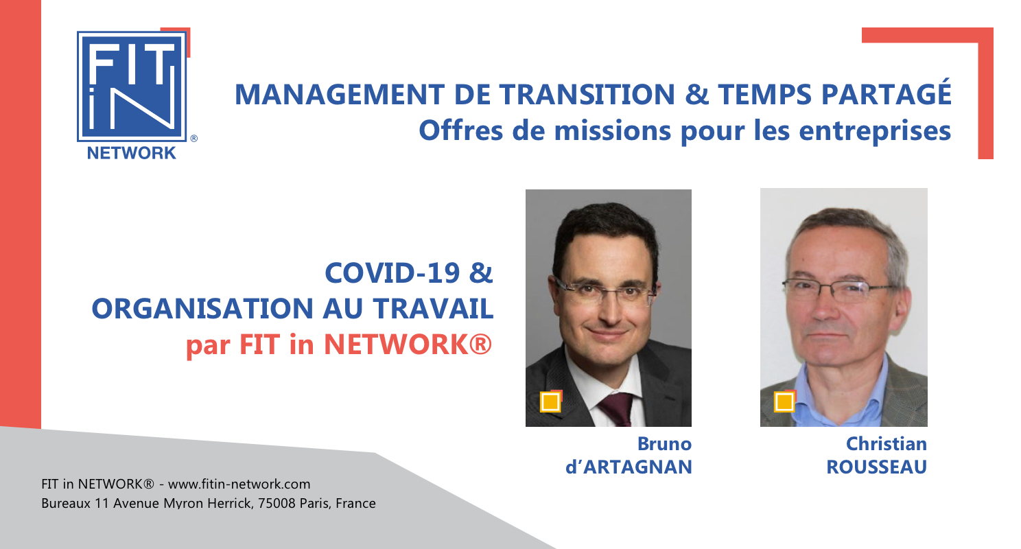 FIT in NETWORK® - COVID-19 & Organisation au Travail